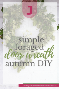 foraged autumn door wreath