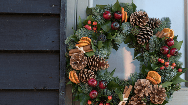 Christmas door wreath workshop at the House of the Crafty Fox