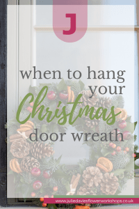 When to hang your Christmas door wreath