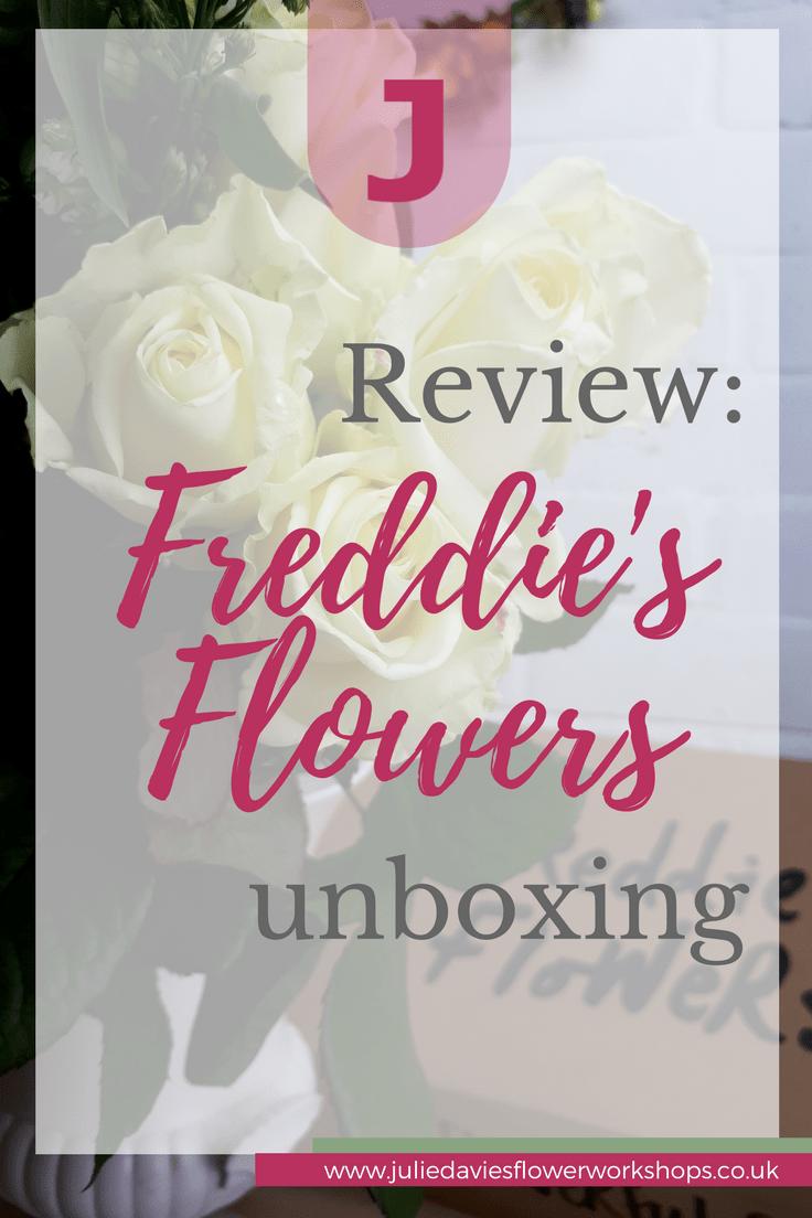 unboxing Freddie's flowers