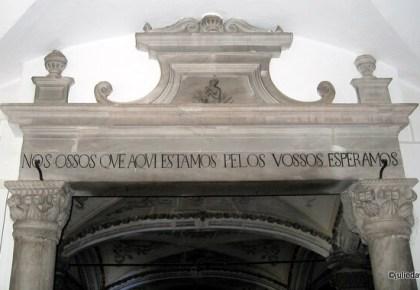 lintel, chapel of bones, Évora, Portugal
