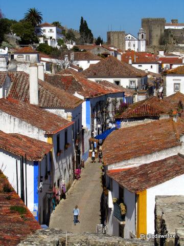 Quiet streets of Óbidos