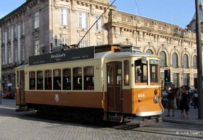 Wooden tram, Porto. How to get around Porto