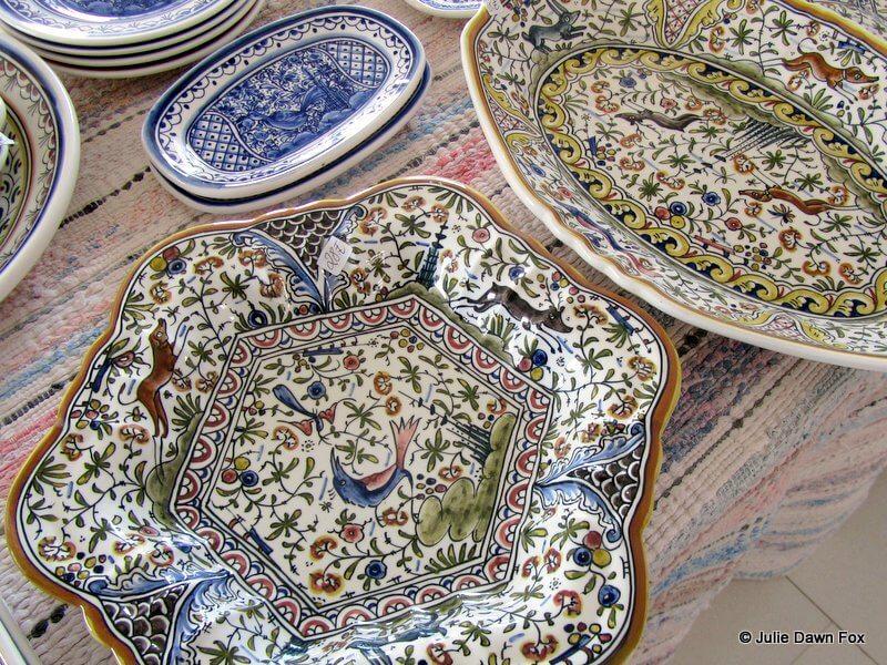 hand-painted ceramics by Sr. Melho