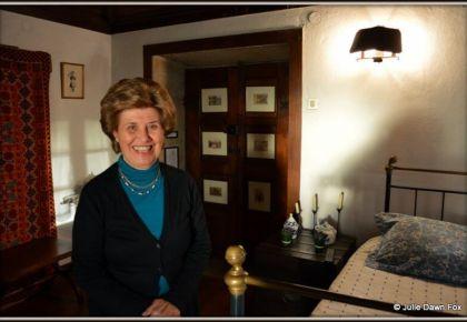 Maria do Rosário Fernandes Pinto gives a warm welcome to guests at Casa da Calçada in Melgaço.