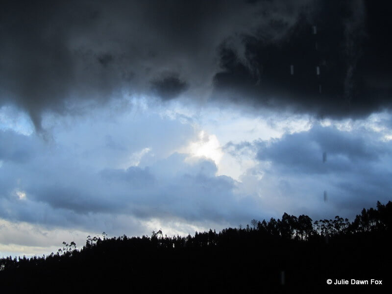 Dirty black storm clouds