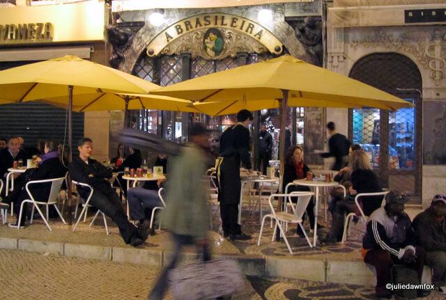 Lisbon streets, cafe Brasileira