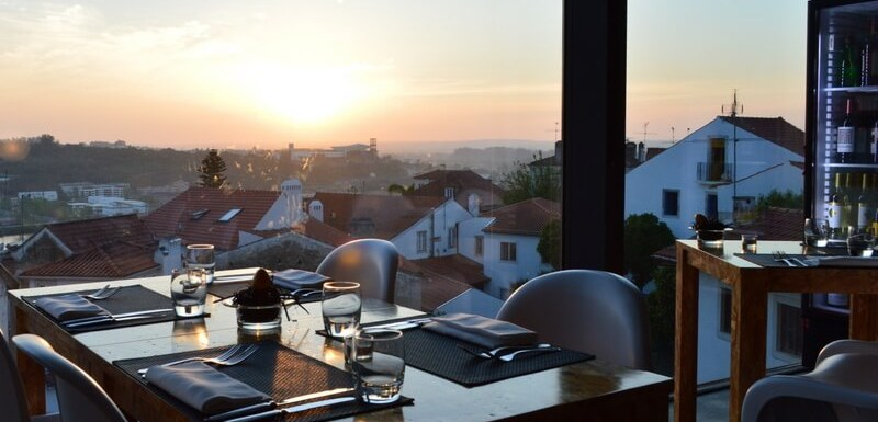Sunset from Loggia Restaurant, Coimbra