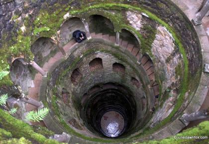 Looking down the well, Quinta da Regaleira, Sintra