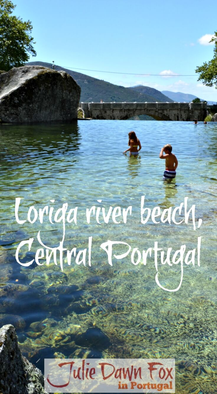 Loriga mountain river beach, Serra da Estrela, Central Portugal