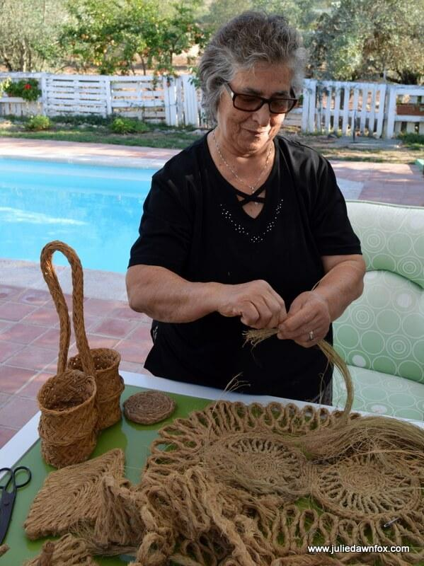 Weaving esparto grass, Algarve, Portugal. Photography by Julie Dawn Fox