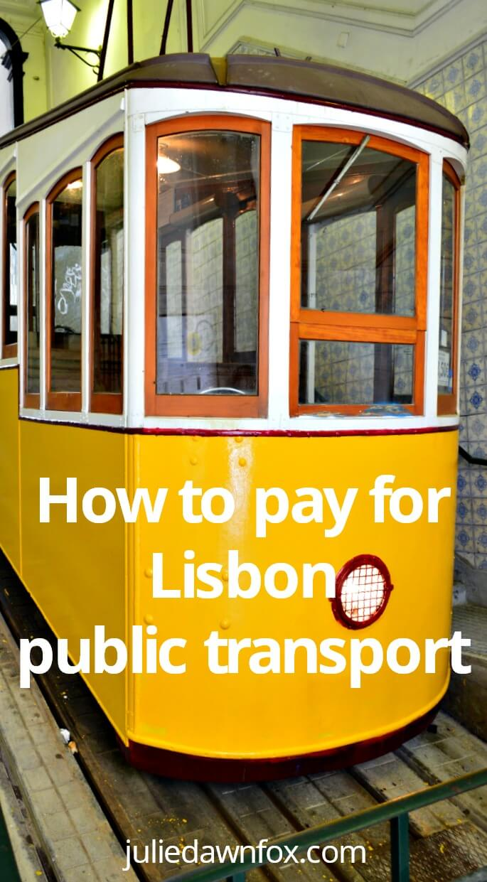 How to pay for Lisbon public transport using Zapping to pay as you go on buses, trams, elevators, trains and the metro