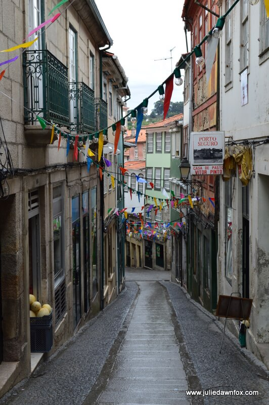 Streets of Lamego with banners