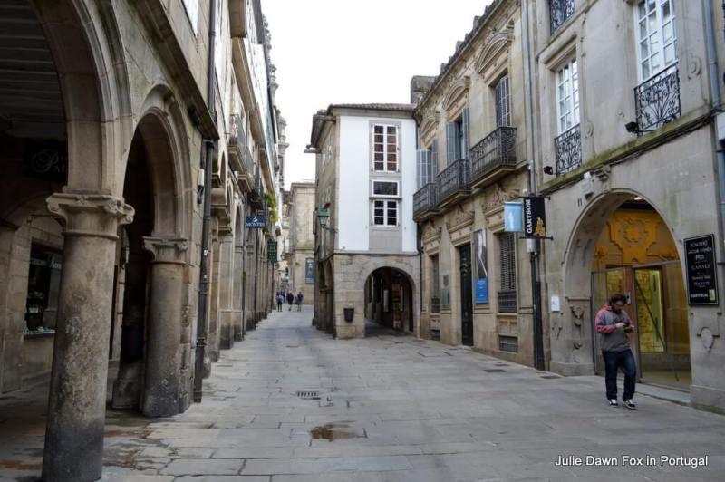 Old streets and arcades, Santiago de Compostela