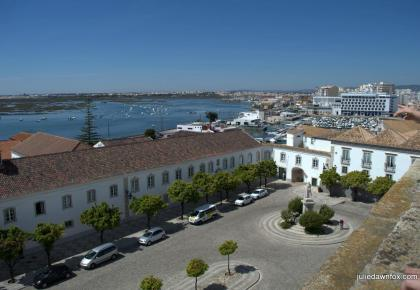 View of Largo da Sé and Ria Formosa from Faro Cathedral