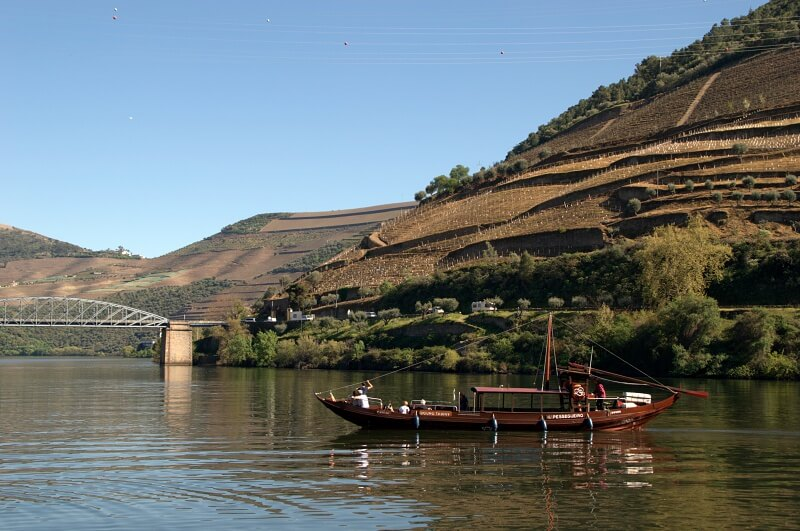 Rabelo boat on the Douro River, Pinhão