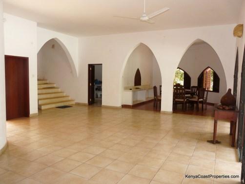 hallway to dining kitchen