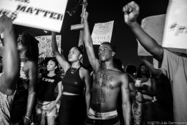 Protest in Baton Rouge following the police killing of Alton Sterling