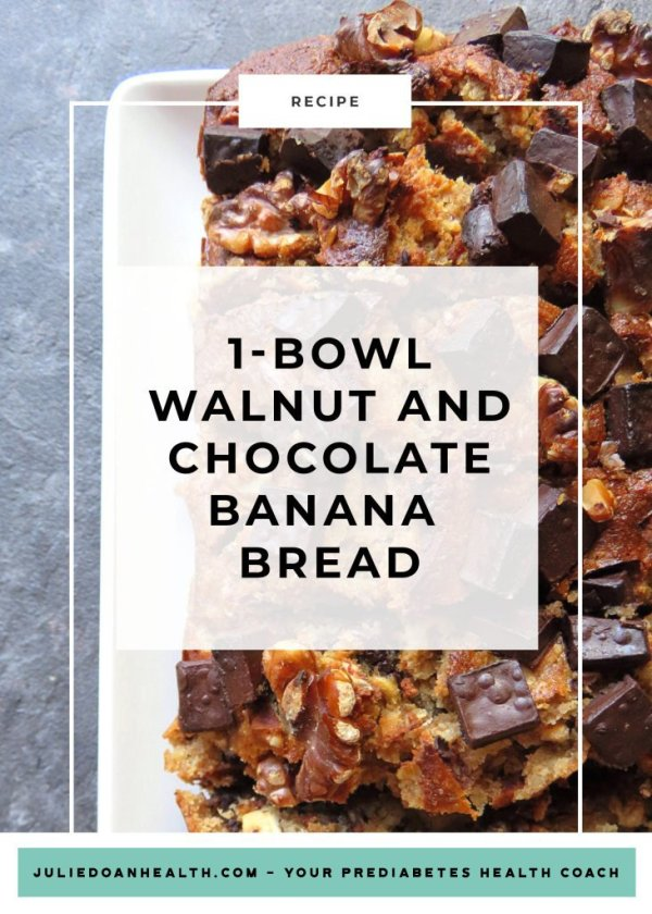walnut chocolate banana bread reverse prediabetes