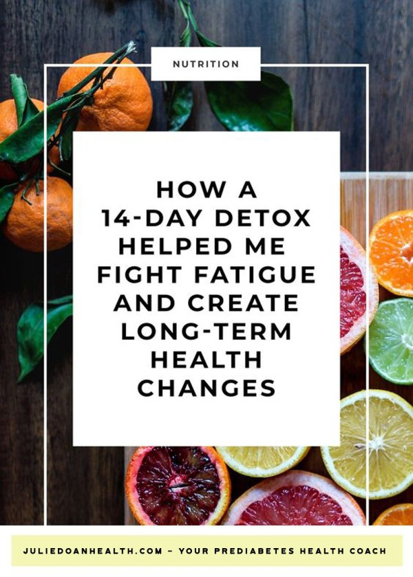 detox cleanse prediabetes fatigue