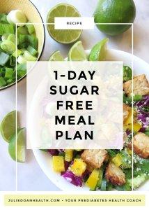 sugar-free meal plan no added sugar reverse prediabetes diabetes