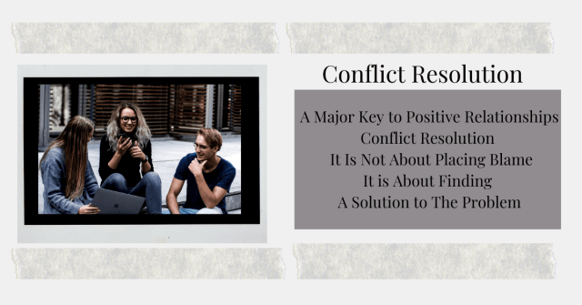 Conflict Resolution begins with Changing your Perception