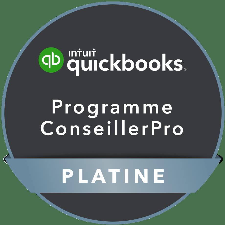 Quickbooks certifiés ConseillerPro PLATINE