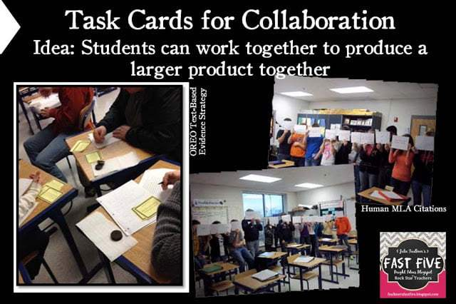 High School Task Cards for Collaboration
