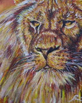 Lion Spirit Painting Upper North Shore of Sydney
