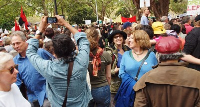Protesters in Sydney 2014 #marchinmarch