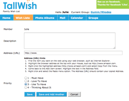 Tallwish-add