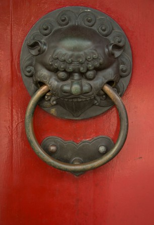 One of my fav things to photograph at the moment, temple door handles at Buddha's Relic Tooth Temple