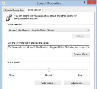 speech properties