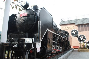 An old train preserved and is now an attraction to tourists.