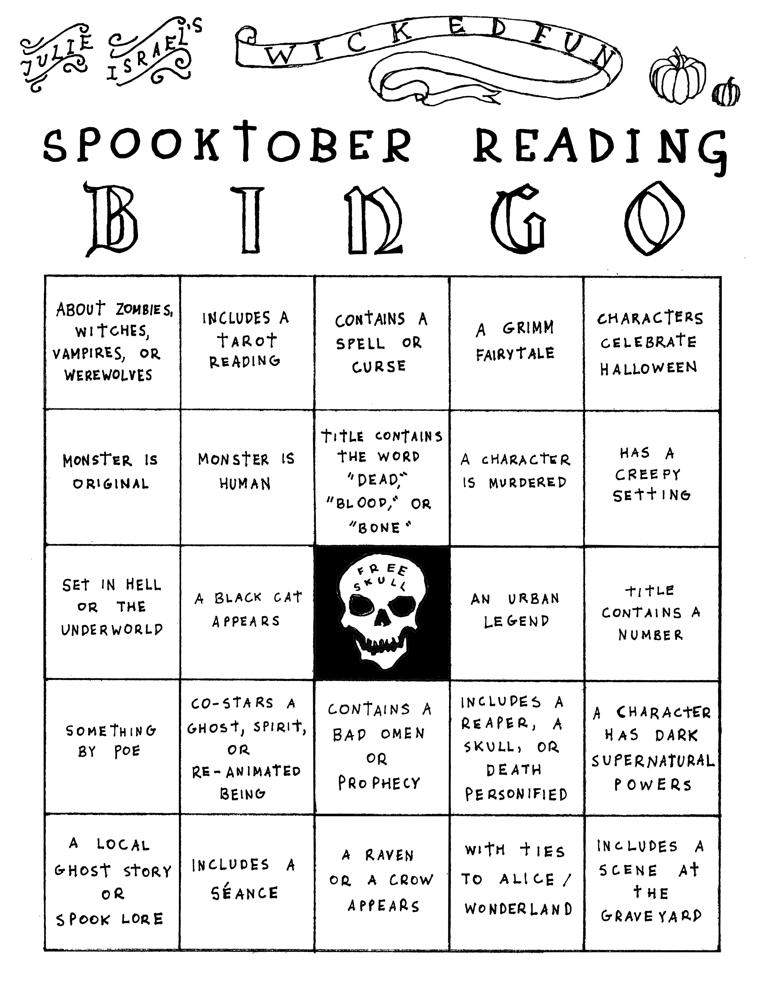 Spooktober Reading Bingo