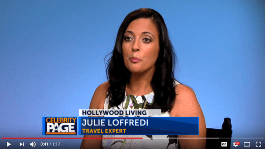 Travel Expert Julie Loffredi Featured on Celebrity Page