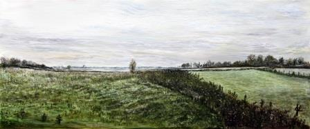 Emma's View Mearely Frosty | Oil on Canvas by Julie Lovelock