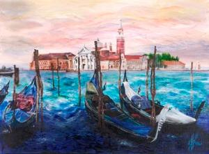 Misty Venice | Oil on Canvas by Julie Lovelock