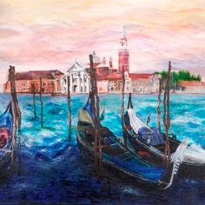 Misty Venice | Oil on Canvas by Julie Lovelock