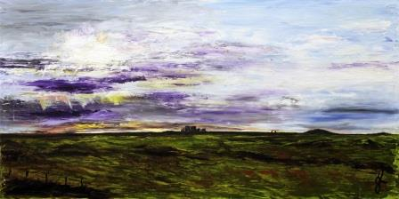 Stoney Skies v1   Oil on Canvas by Julie Lovelock