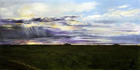 Stoney Skies v2 | Oil on Canvas by Julie Lovelock