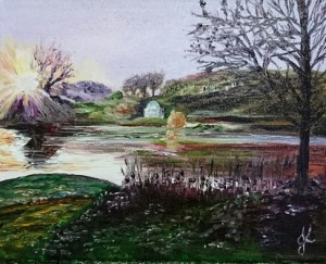 Winter Light - Stourhead Reflections Series | Oil on Canvas by Julie Lovelock