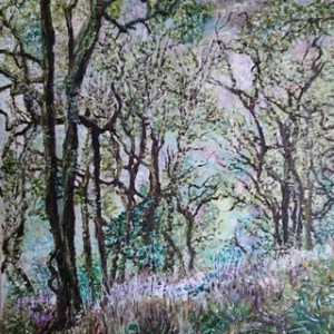 Impression of a Wood by Julie Lovelock - Original oil on canvas