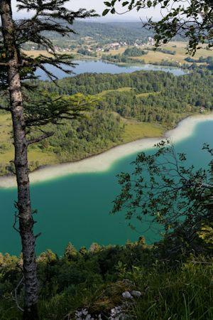 Le Frasnois, lac de Maclu et Ilay
