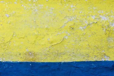 Vieille coque à deux couleurs, détail.
