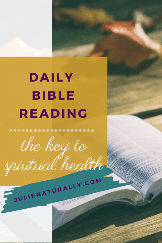 open bible on a wood surface for daily Bible reading
