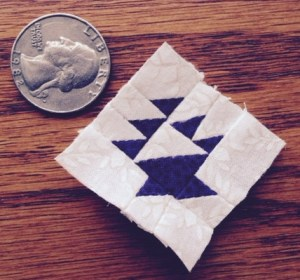 miniature basket quilt block