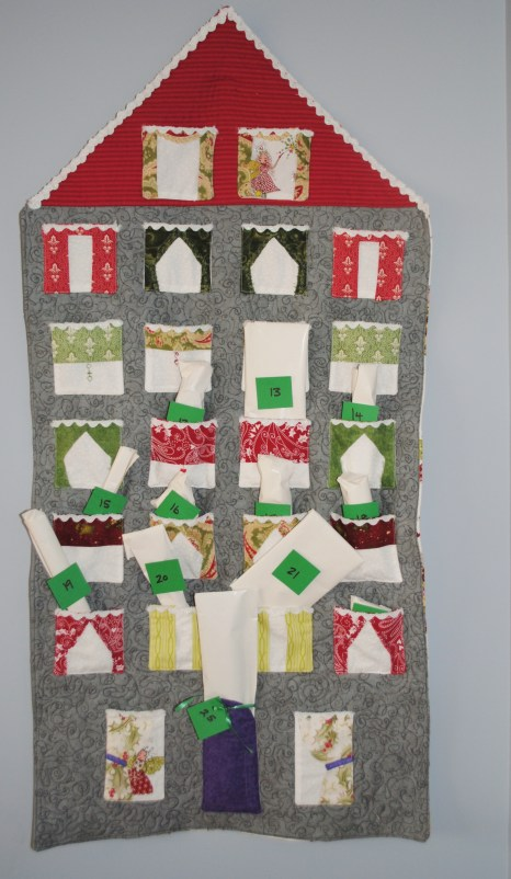 The Neu Family Gray House Advent Calendar