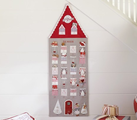 Pottery Barn Gray House Advent Calendar