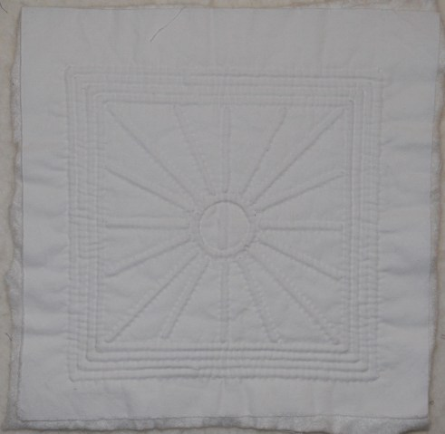 Hand quilted Provencal white work